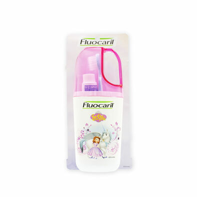 Fluocaril ฟลูโอคารีล ชุดแปรงสีฟันและยาสีฟันฟลูโอคิดส์ฟันน้ำนม ลายเด็กหญิง