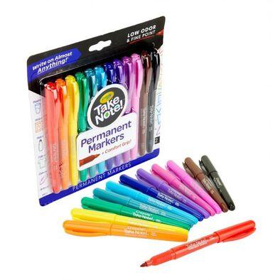 Crayola เครโยล่า สีเมจิกถาวรหัวแหลมเขียนได้ทุกพื้นผิว 12สี
