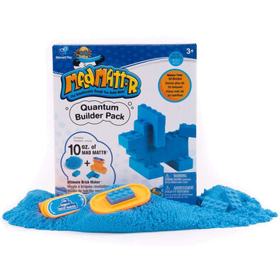 Mad Mattr แมด แมทเทอร์ ชุดแป้งโดมหัศจรรย์ สีฟ้า พร้อมแม่พิมพ์บล็อกเลโก้