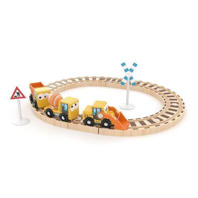 J'adore ฌาดอร์ ของเล่นไม้ ชุดรถไฟพร้อมรางต่อ