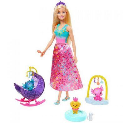 Barbie บาร์บี้ ดรีมโทเปีย ตุ๊กตาบาร์บี้ พร้อมของเล่นแฟนตาซี (คละแบบ)