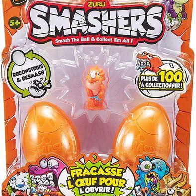 Smashers สแมชเชอร์ ไข่ไดโนเสาร์ แพ็ก 3 ซีรีส์3 คละแบบ