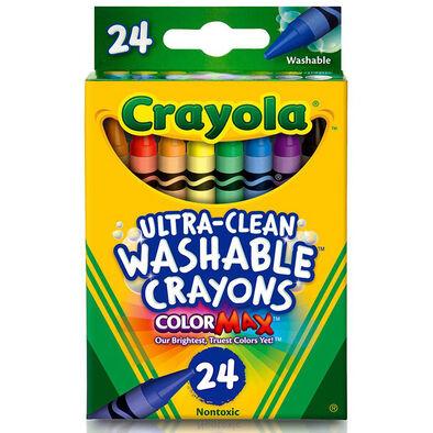 สีเทียนล้างได้ 24 แท่ง