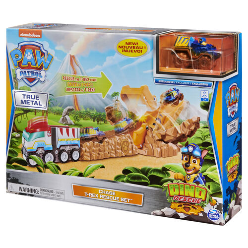 Paw Patrol พาว พาโทรล ชุดของเล่น พาว พาโทรล เซตรางรถก้อนหินจำลอง ทีเร็กซ์ เรสคิว เซ็ท