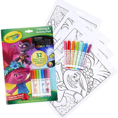 Crayola เครโยล่า ชุดสมุดระบายสีและกิจกรรม โทรลส์