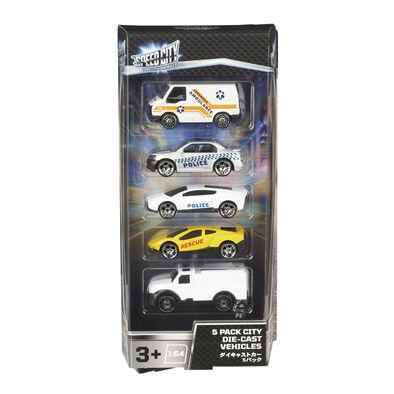 Speed City สปีด ซิตี้ 5 แพค ซิตี้ รถเล็ก ไดคาสท์