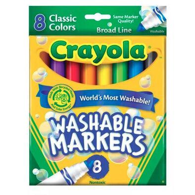 Crayola เครโยล่า สีเมจิก 8แท่งใหญ่ ล้างออกได้ ไร้สารพิษ