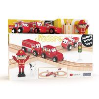 J'adore ฌาดอร์ ของเล่นไม้ชุดรถไฟดับเพลิง