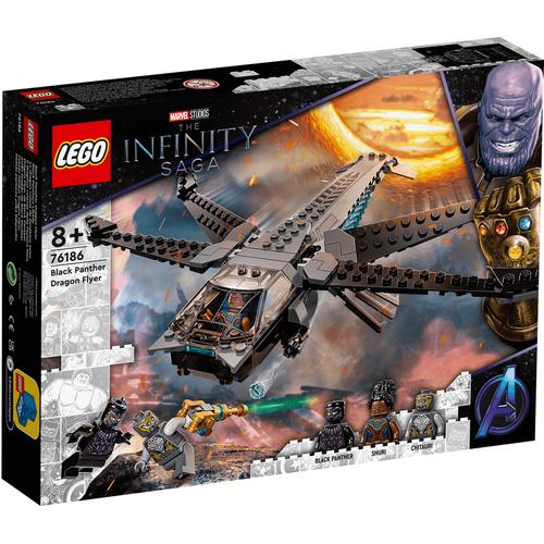 LEGO เลโก้ แบล็คแพนเตอร์ ดรากอน ฟลายเออร์ 76186