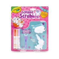 Crayola เครโยล่า สคริบเบิ้ล สครับบี้ ชุดระบายสีและอาบน้ำสัตว์เลี้ยง กระต่ายและหมู