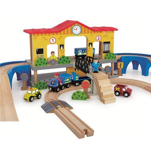 Universe Of Imagination ยูนิเวิร์ส ออฟ อิเมจิเนชั่น ชุดของเล่นไม้สถานีรถไฟ