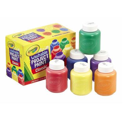 Crayola เครโยล่า สีน้ำ6สีในขวดพร้อมใช้ ล้างออกได้ ไร้สารพิษ