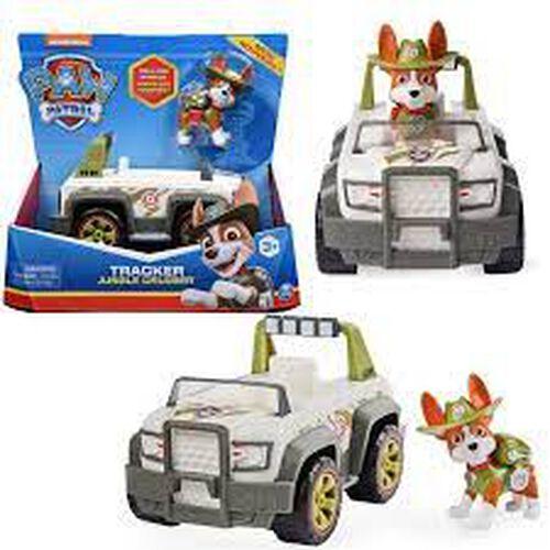 Paw Patrol พาว พาโทรล ชุดของเล่นเบสิคฟิกเกอร์พร้อมยานพาหนะ - แทรคเกอร์