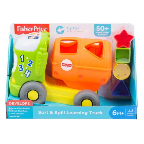 Fisher Price ฟิชเชอร์ ไพรซ์ ของเล่นรถบรรทุกหยอดบล็อก