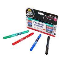 Crayola เครโยล่า สีเมจิกเขียนไวท์บอร์ดหัวเล็ก4แท่ง