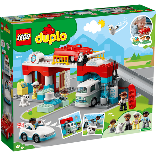 LEGO เลโก้ ดูโปล ชุดตัวต่ออู่ซ่อมรถและโรงล้างรถ 10948