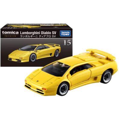 รถเหล็ก Tomica Premium No.15 Lamborghini Diablo SV สีเหลือง