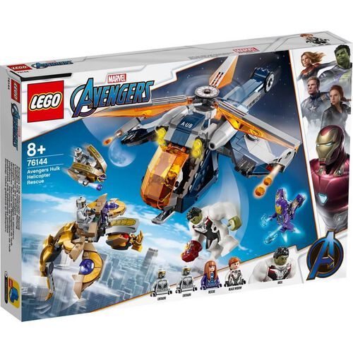 LEGO เลโก้ มาร์เวล อเวนเจอร์ ฮัลค์ เฮลิคอปเตอร์ เรสคิว 76144