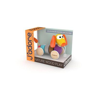 จาดอร์ ของเล่นไม้จูงน้องหมาสีส้ม