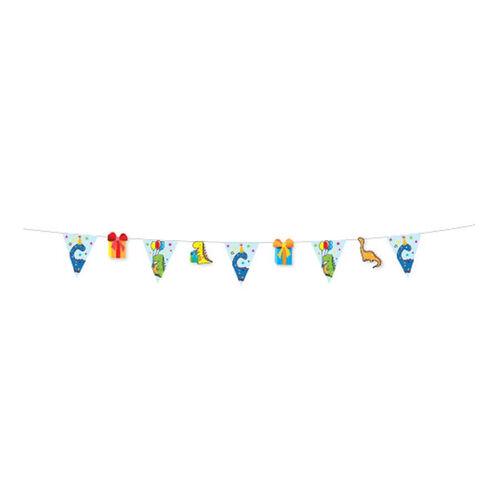 แอมสแกน ธงตกแต่งงานเลี้ยง 3 เมตร (ลายไดโนเสาร์)