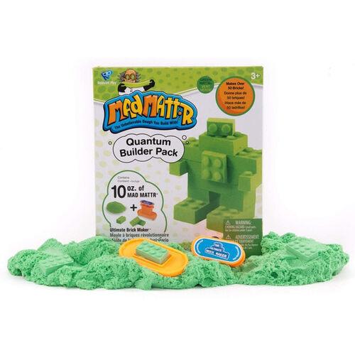 Mad Mattr แมด แมทเทอร์ ชุดแป้งโดมหัศจรรย์ สีเขียว พร้อมแม่พิมพ์บล็อกเลโก้