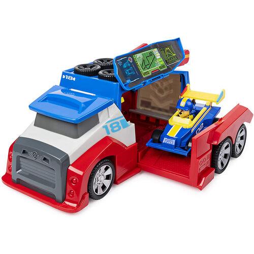 Paw Patrol พาว พาโทรล ของเล่นยานพาหนะ เรดดี้ เรซ โมบาย พิท สตอป