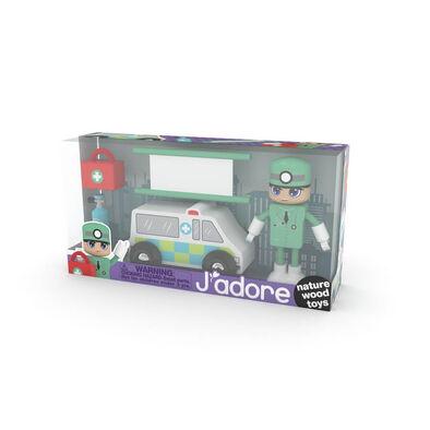 J'adore ฌาดอร์ ของเล่นไม้ ชุดกิฟท์บ็อกซ์ธีมเจ้าหน้ารถพยาบาล