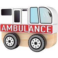 J'adore ฌาดอร์ ของเล่นไม้ ชุดต่อต่อรถพยาบาล