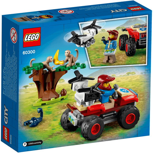 LEGO เลโก้ ซิตี้ ไวลด์ไลฟ์ เรสคิว เอทีวี 60300