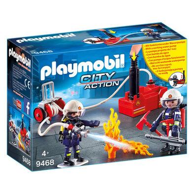 Playmobil เพลย์โมบิล ชุดของเล่นนักดับเพลิง และหัวปั๊มดับเพลิง