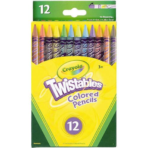 Crayola เครโยล่า สีไม้หมุนได้ 12สี ไม่ต้องเหลา