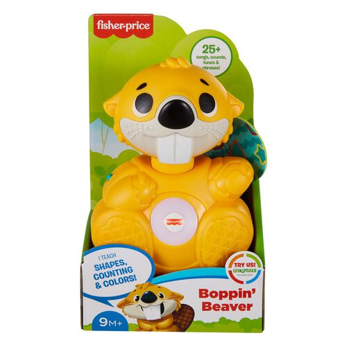 Fisher-Price ฟิชเชอร์-ไพร์ส ลิงค์คิมอล บ๊อบปิน ของเล่นตุ๊กตาบีเวอร์