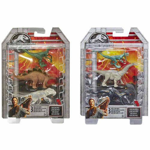 Jurassic World จูราสสิค เวิร์ด มินิไดโน ฟิกเกอร์ แพ็ก 3 คละแบบ