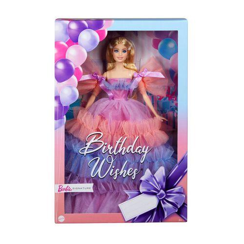 Barbie ตุ๊กตาบาร์บี้ ซิกเนเจอร์ เบิร์ดเดย์ วิส