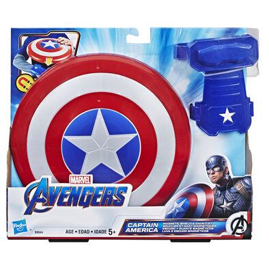 Avenger อเวนเจอร์ กัปตัน อเมริกา โล่แม่เหล็กของเล่น+ถุงมือ