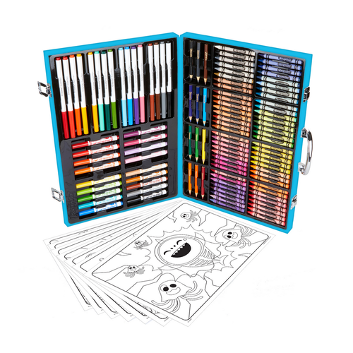 Crayola เครโยล่า กล่องรวมอุปกรณ์ศิลปะแห่งแรงบันดาลใจ ลายเบบี้ชาร์ค