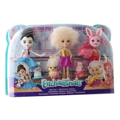 ตุ๊กตา เอ็นช้านติมอล ในชุดบัลเล่ต์ พร้อมผองเพื่อน แพค 3
