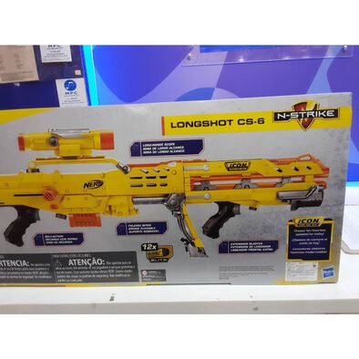 NERF N-Strike Elite ICON SERIES Longshot CS-6 Yellow Blaster Gun ปืนเนิร์ฟ