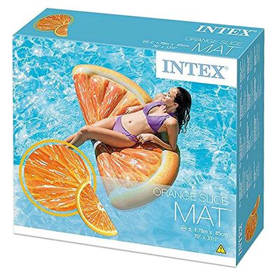 Intex แพยางเป่าลม ส้ม