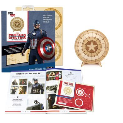 PLYWOOD Puzzle ตัดต่อจากไม้ กัปตันอเมริกา Captain America