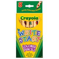Crayola เครโยล่า สีไม้สำหรับเด็กเล็ก 8แท่ง ไส้หนาพิเศษ