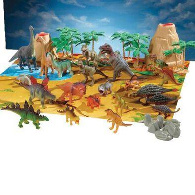 แอนิมอล โซน ถังใส่ไดโนเสาร์ และอุปกรณ์ 40 ชิ้น
