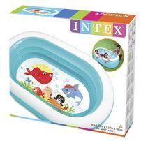 Intex สระน้ำเป่าลมรุปวงรีใส ลายเพื่อนสัตว์ทะเล