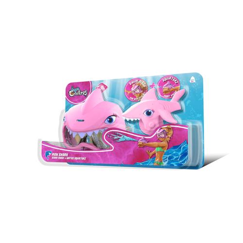 Aqua Creatures ปืนฉีดน้ำและหน้ากากว่ายน้ำรูปฉลาม (สีชมพู)
