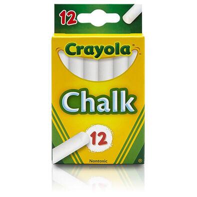 Crayola เครโยล่า สีชอล์ก สีขาว  12แท่ง ไร้สารพิษ