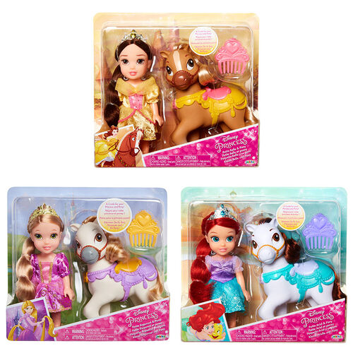 Disney Princess ตุ๊กตาเจ้าหญิงตัวน้อยและม้าโพนี่ี่ (คละลาย)