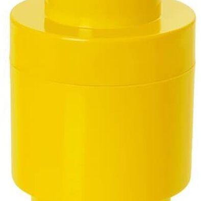 LEGO เลโก้ กล่องเก็บบริคทรงกลม 1 ปุ่ม สีเหลือง