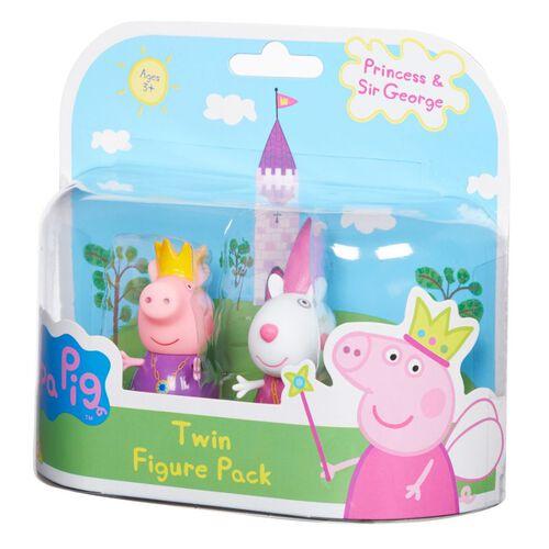 Peppa Pig ฟิกเกอร์เจ้าหญิง Peppa Pig Princess แพ็คคู่ คละแบบ