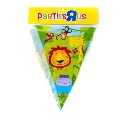 "Parties""R""Us ธงแบนเนอร์ 12 นิ้ว ลายสัตว์ป่า"