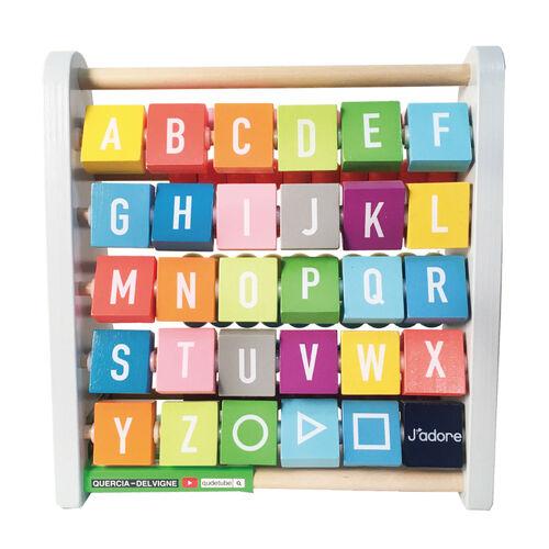 J'adore ฌาดอร์ ของเล่นไม้ ลูกคิดสองด้าน (ตัวเลข / ตัวอักษร)